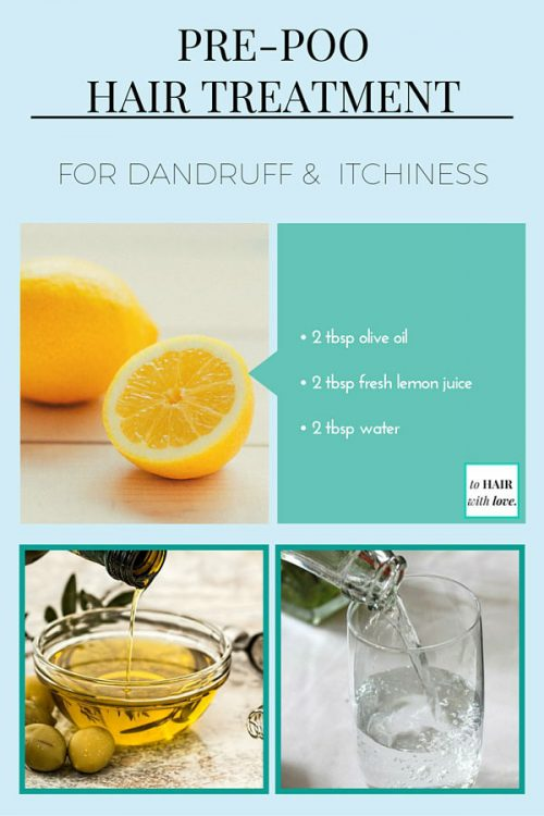 Pre Poo Hair Treatment For Dandruff And Itchiness