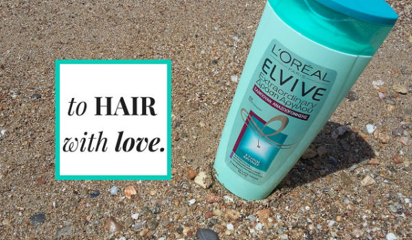 elvive extraordinary clay re-balancing shampoo on the beach