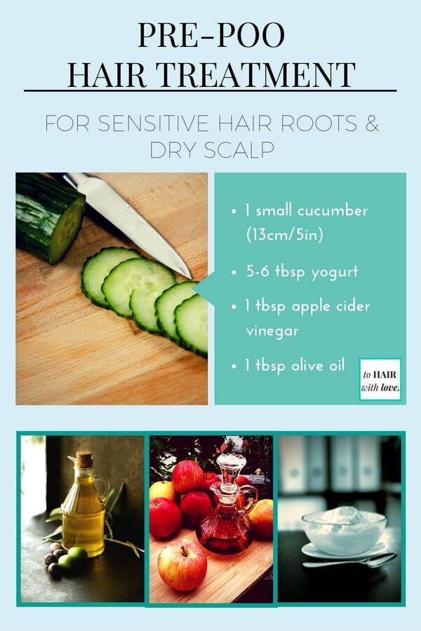 Cucumber For Hair Growth Pre-poo Hair Treatment For Sensitive Hair Roots And Dry Scalp