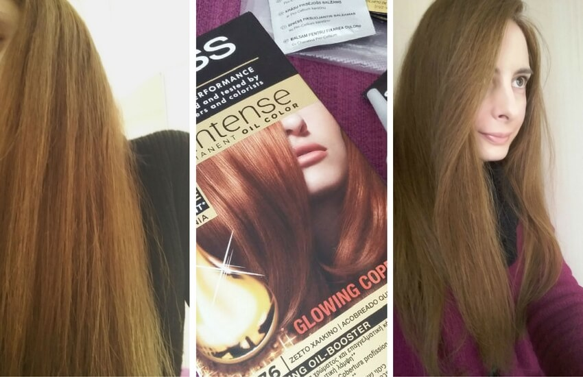 Syoss Oleo Intense Hair Color Before And After