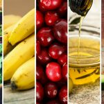 collage photo of some of the best foods for hair growth